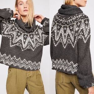NEW Free People Treasure Turtleneck Sweater beaded